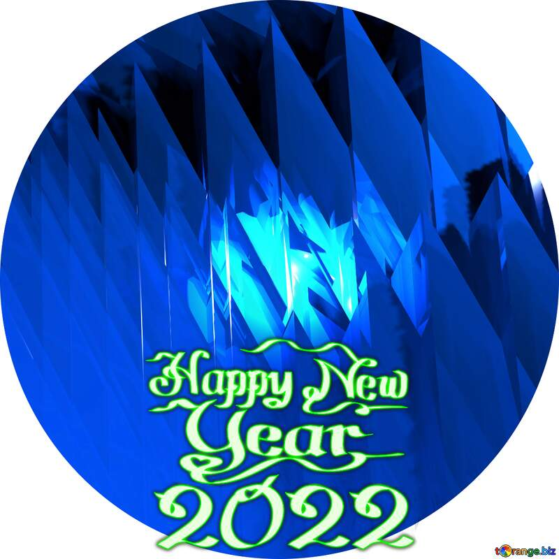 Blue futuristic shape. Computer generated abstract background. Circle happy new year 2021 №51524