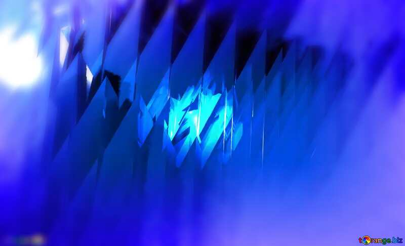 Blue futuristic shape. Computer generated abstract background. Frame Blur №51524