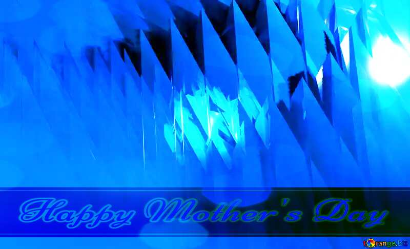 Blue futuristic shape. Computer generated abstract background. Happy Mother`s Day №51524