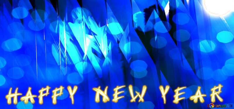 Blue futuristic shape. Computer generated abstract background. Happy New Year №51524
