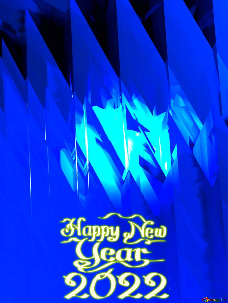 Blue futuristic shape. Computer generated abstract background. Happy New Year 2021 №51524