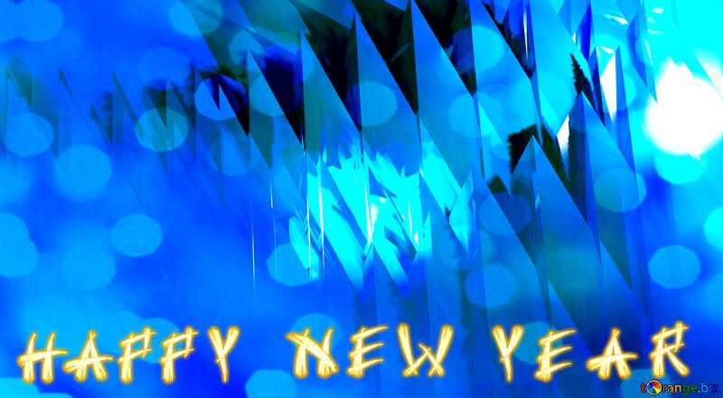 Blue futuristic shape. Computer generated abstract background. Happy New Year Bokeh Background №51524
