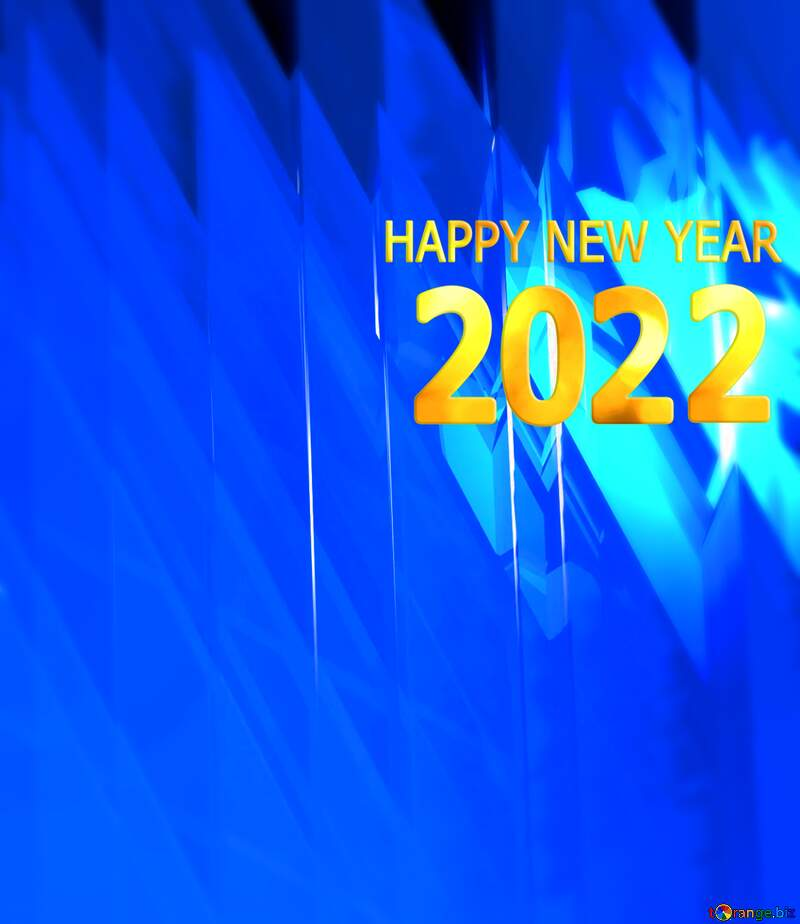 Blue futuristic shape. Computer generated abstract background. Happy New Year Card №51524