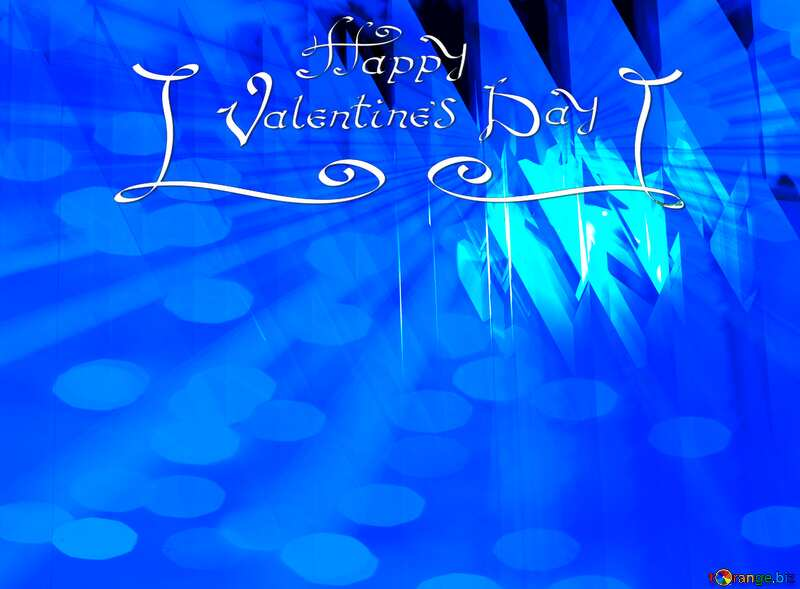 Blue futuristic shape. Computer generated abstract background. Happy Valentines Day №51524