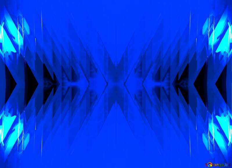 Blue futuristic shape. Computer generated abstract background. Pattern №51524