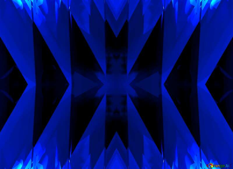 Blue futuristic shape. Computer generated abstract background. Pattern Concept №51524