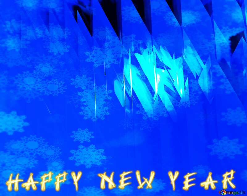 Blue futuristic shape. Computer generated abstract background. Snowflakes Happy New Year №51524