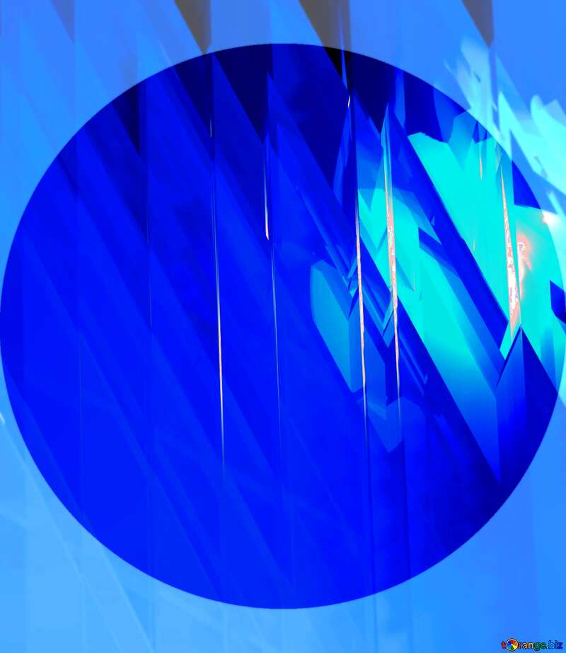 Blue futuristic shape. Computer generated abstract background. Template Presentation №51524