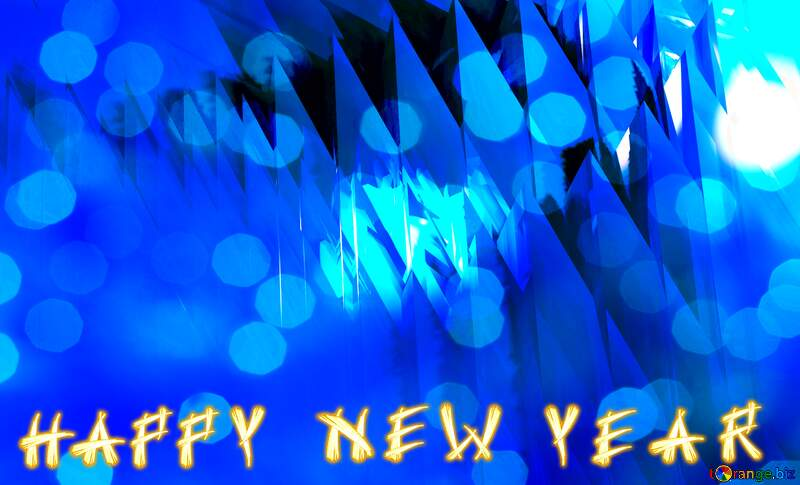 Card Happy New Year Futuristic Abstract Blue №51524