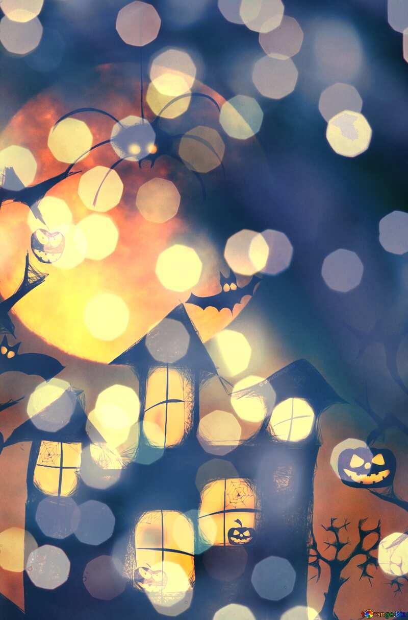 Halloween bokeh background №40470
