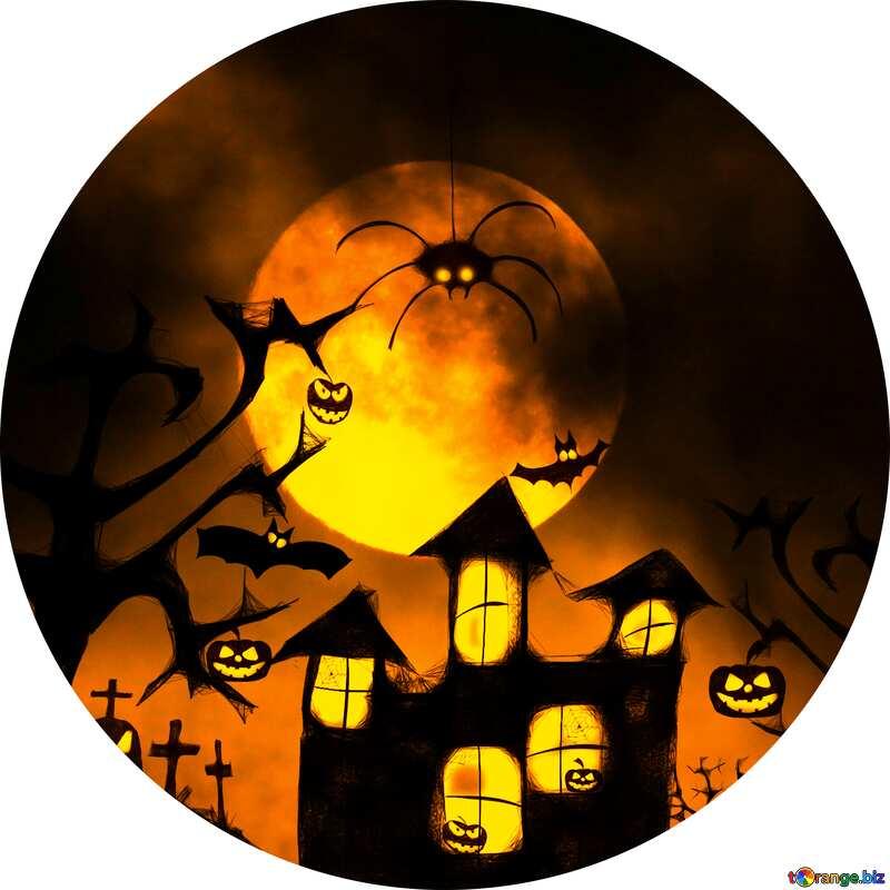 Halloween circle frame №40470