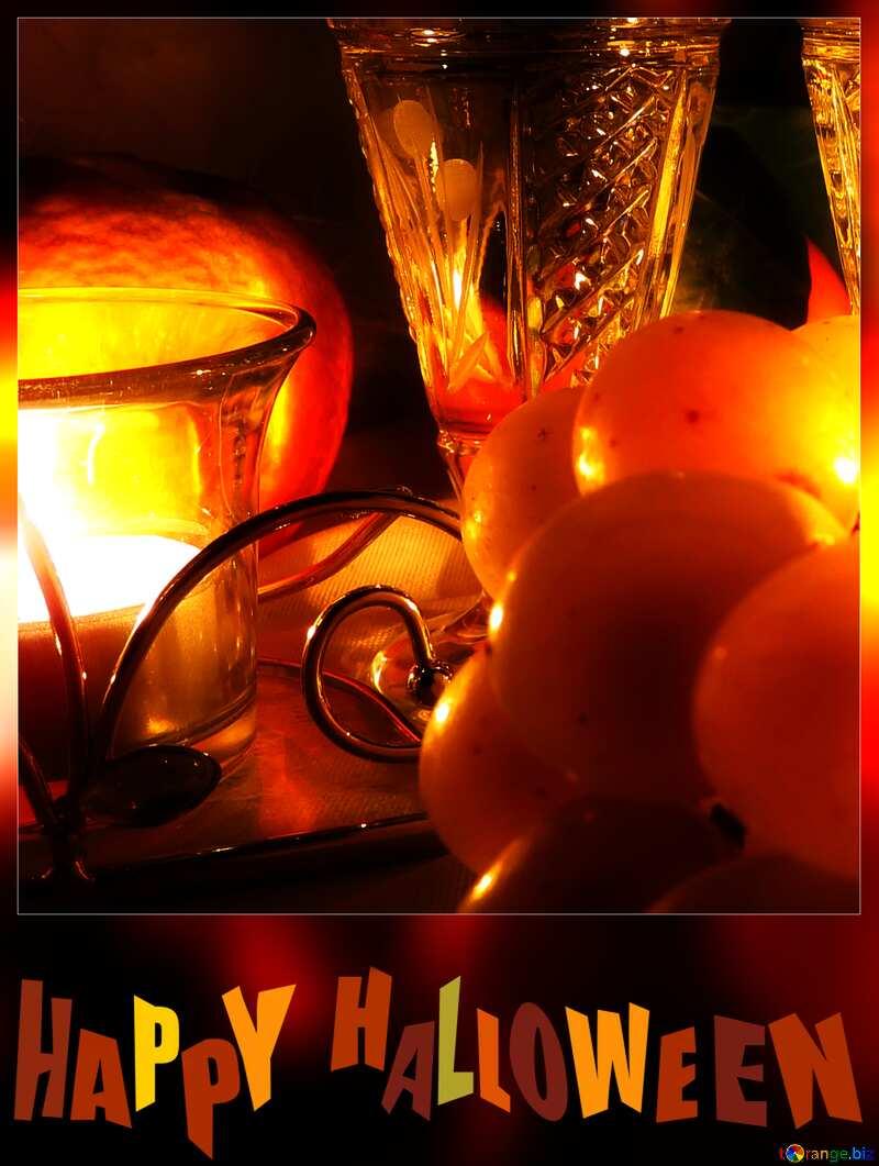 Romance wine card background happy halloween №15170