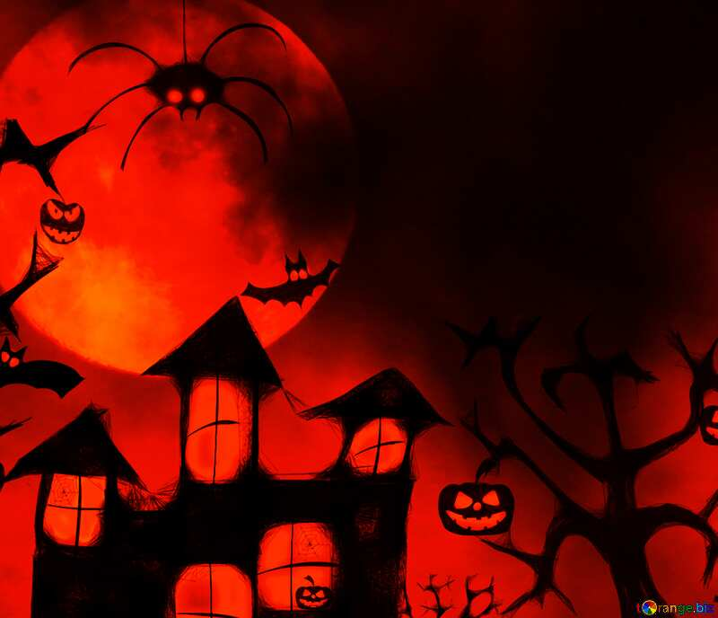 Red  halloween background №40470