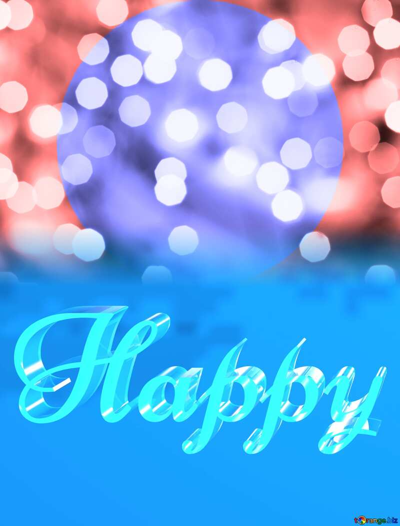 Happy glass blue background Frame Infographics №24617