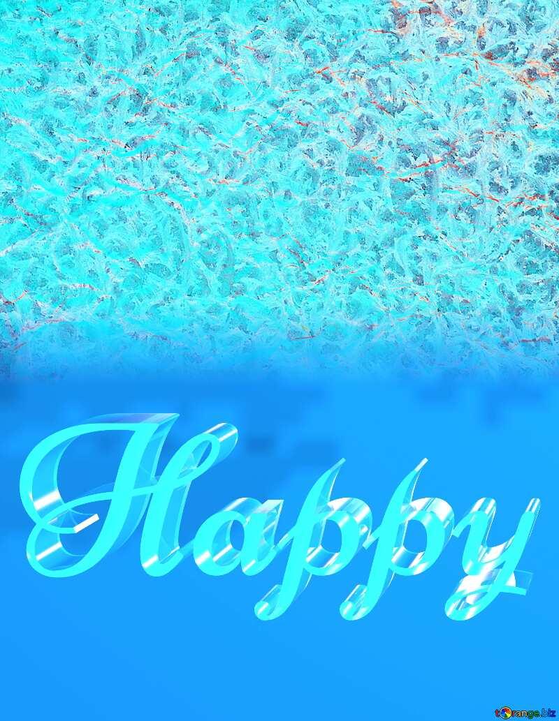 Happy glass blue background Frozen №16019
