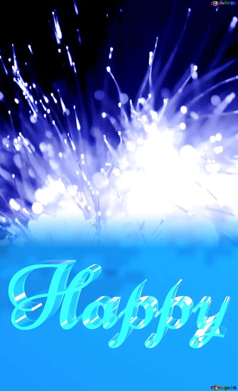 Happy glass blue background Light Guides №41329