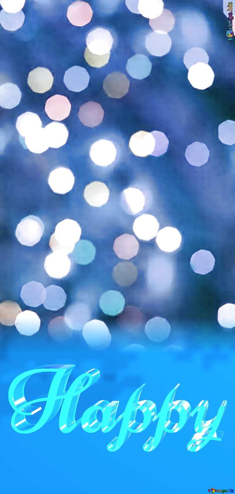 Happy glass blue background Lighten Christmas №24617