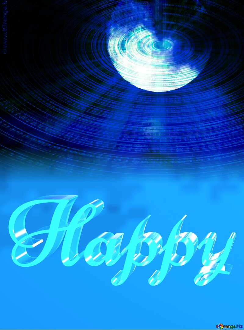 Happy glass blue background Moon Technology Futuristic Space №31497