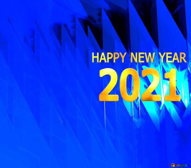 Happy New Year 2021 Computer Futuristic Abstract Background №51524