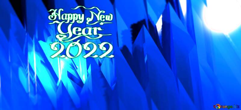 Happy New Year 2021 Futuristic Background №51524
