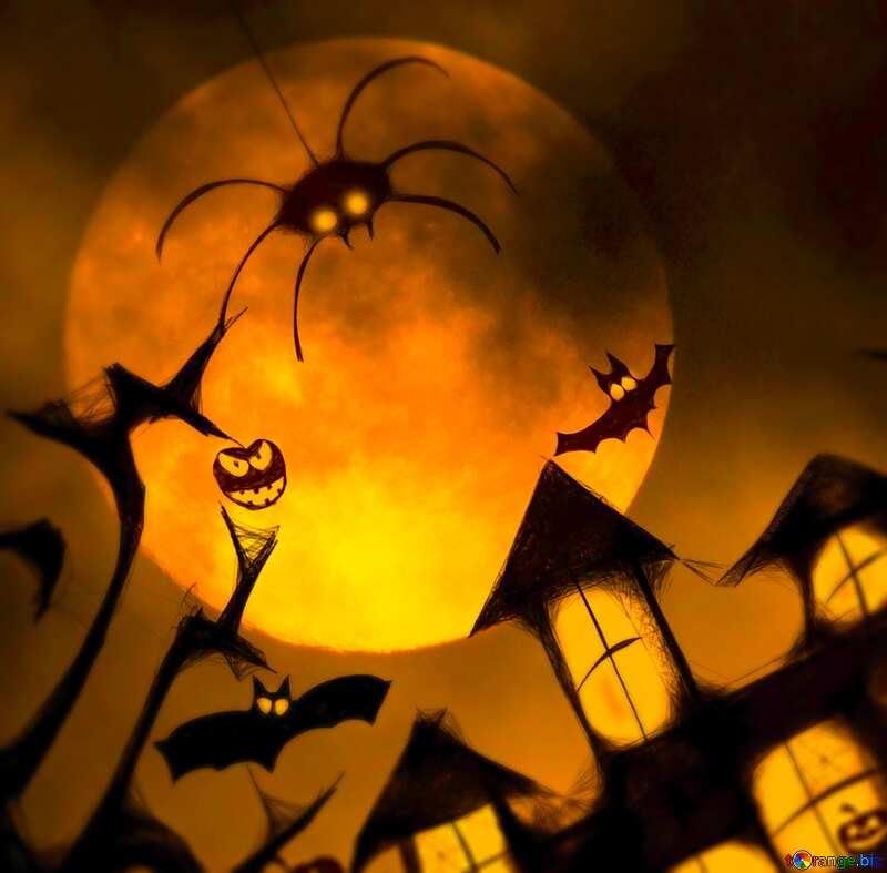 Halloween moon picture №40470