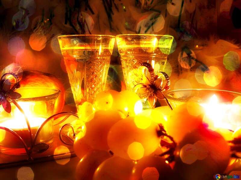 Romance Christmas light bokeh background №15170