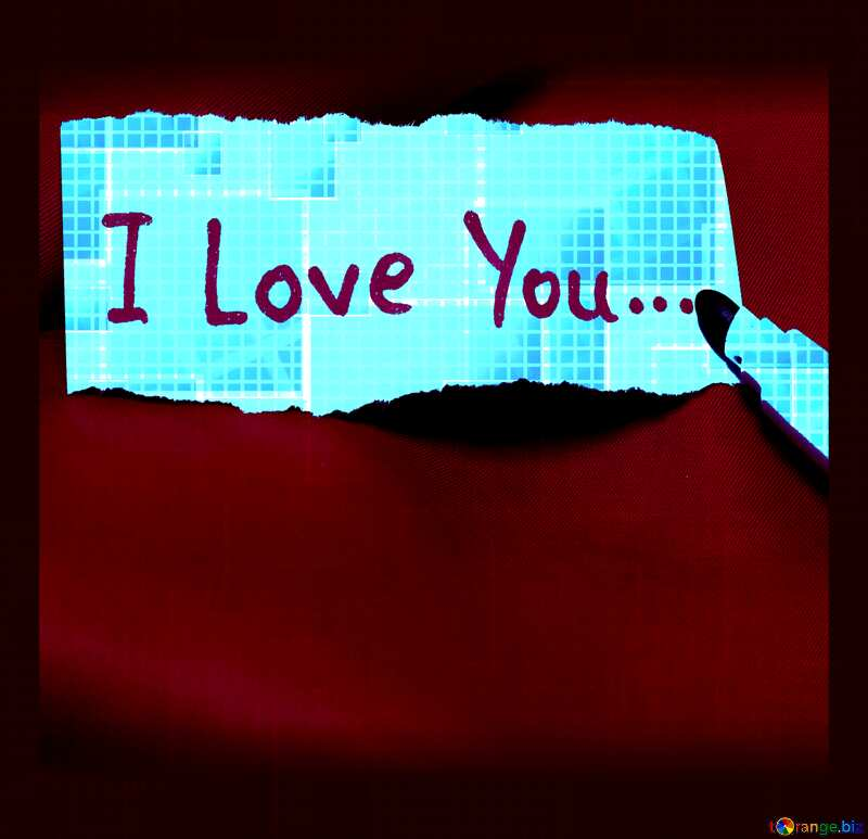 I love you tech abstract squares cell line ruler background №49678