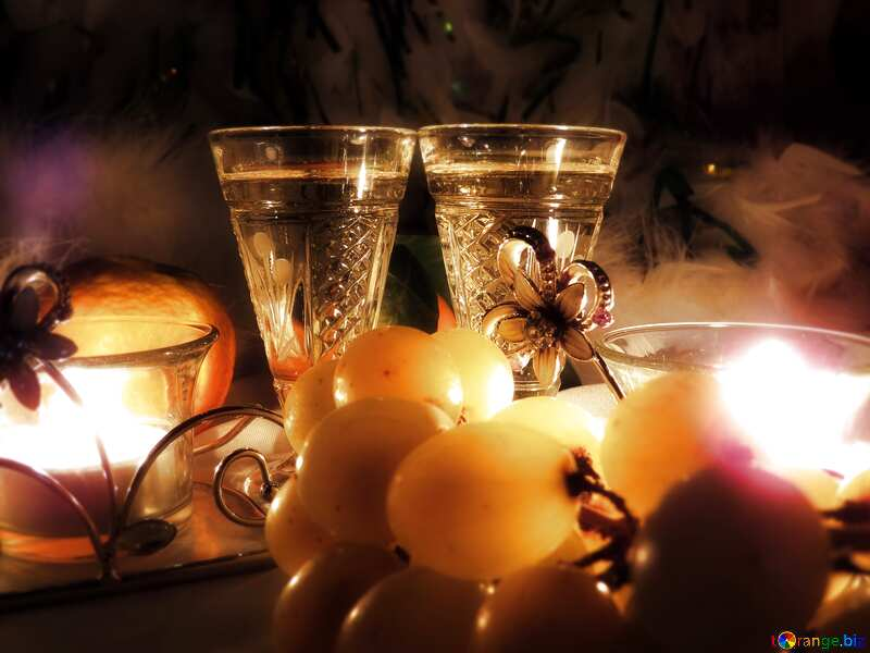 Romance wine card background  bokeh №15170