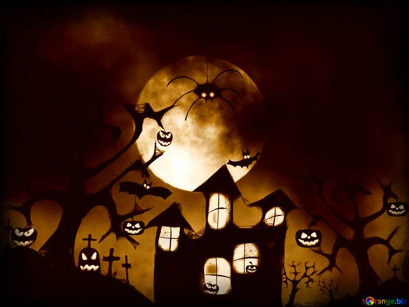 Halloween sepia picture №40470