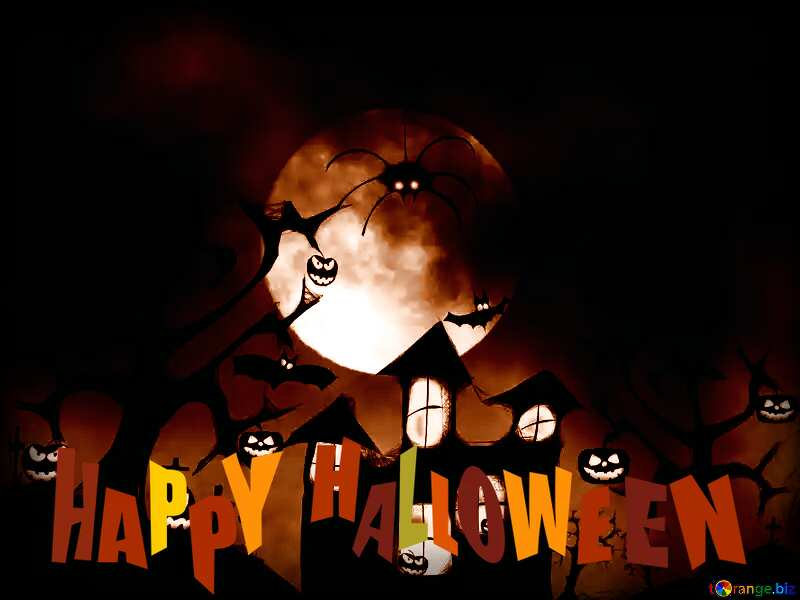 happy Halloween dark background №40470
