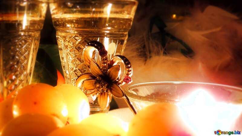 Romance wine card background light blur frame №15170