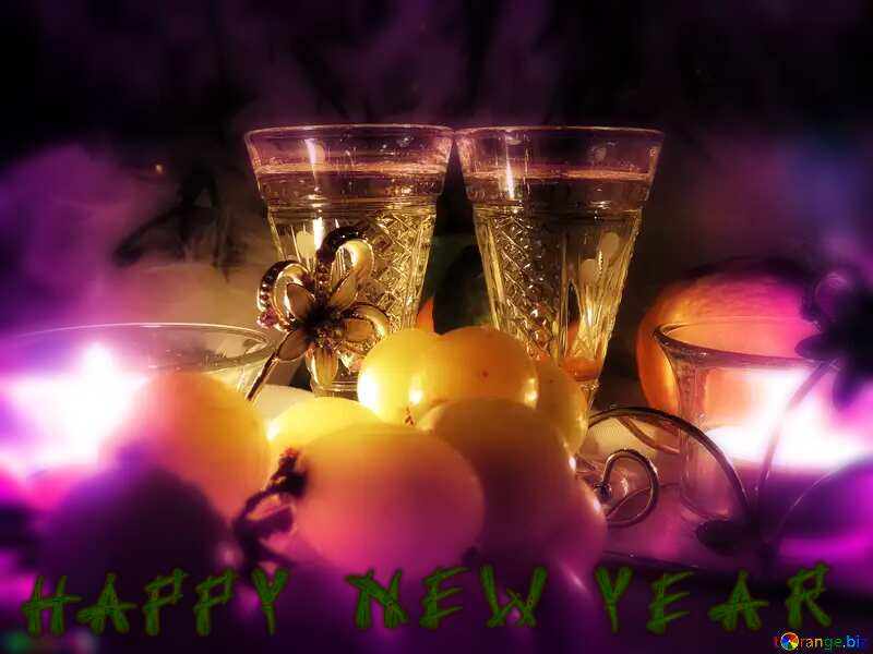 happy new year Romance wine background №15170