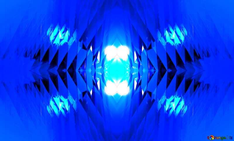 Pattern Blue Futuristic №51524