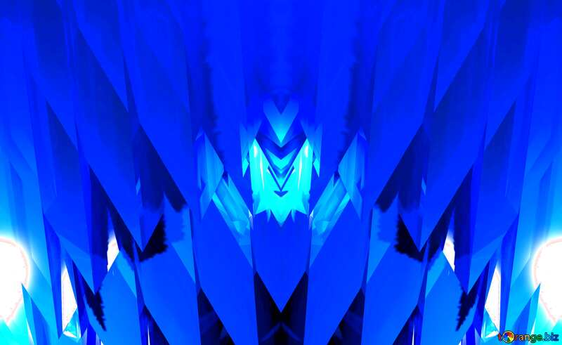 Pattern Futuristic Abstract Light Decor Blue №51524