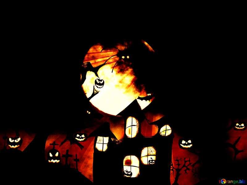 Halloween Rays sunlight background №40470