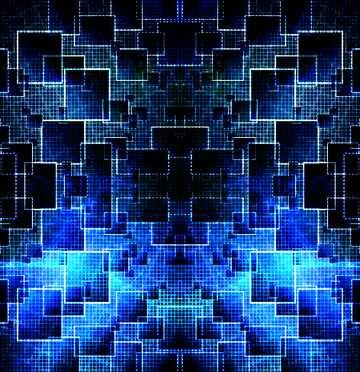 Die Wirkung von Licht. Bruchstück. Muster.