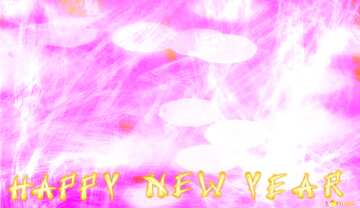 Card with text Happy New Year.
