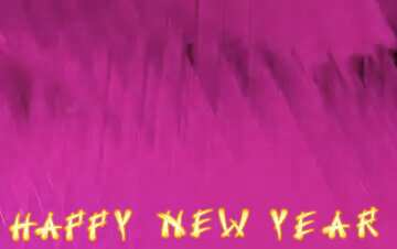 The effect of stained red. Card with text Happy New Year.