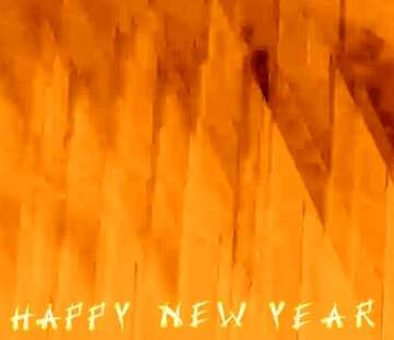 The effect of light. The effect sepia. Fragment. Card with text Happy New Year.