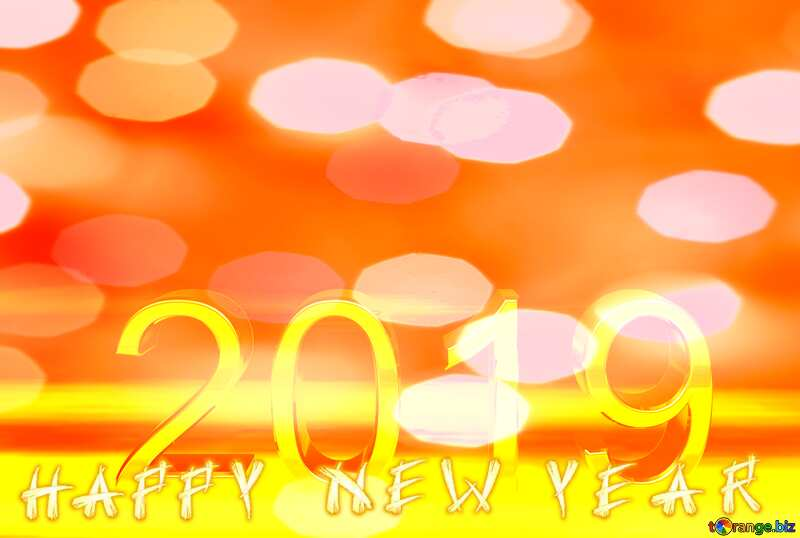 2019 3d render gold digits with reflections dark background isolated  Happy New Year №51520