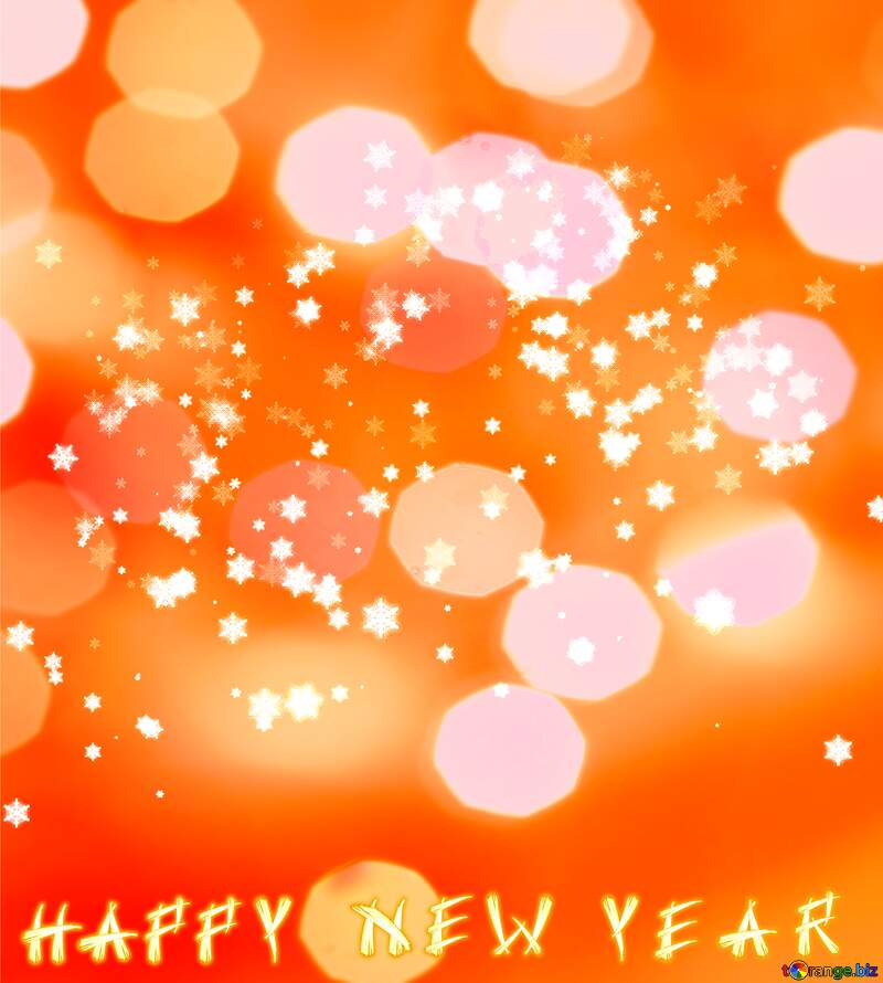 Background with snowflakes Happy New Year №40031