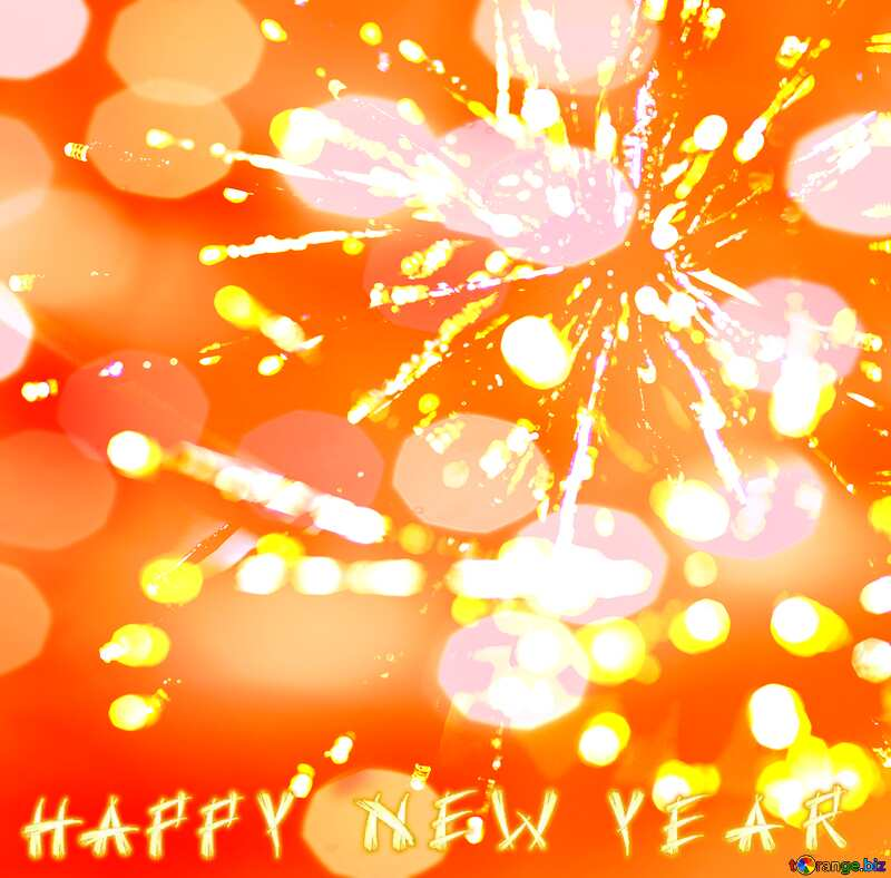 Beautiful background with lights novoogdnimi Happy New Year №47873
