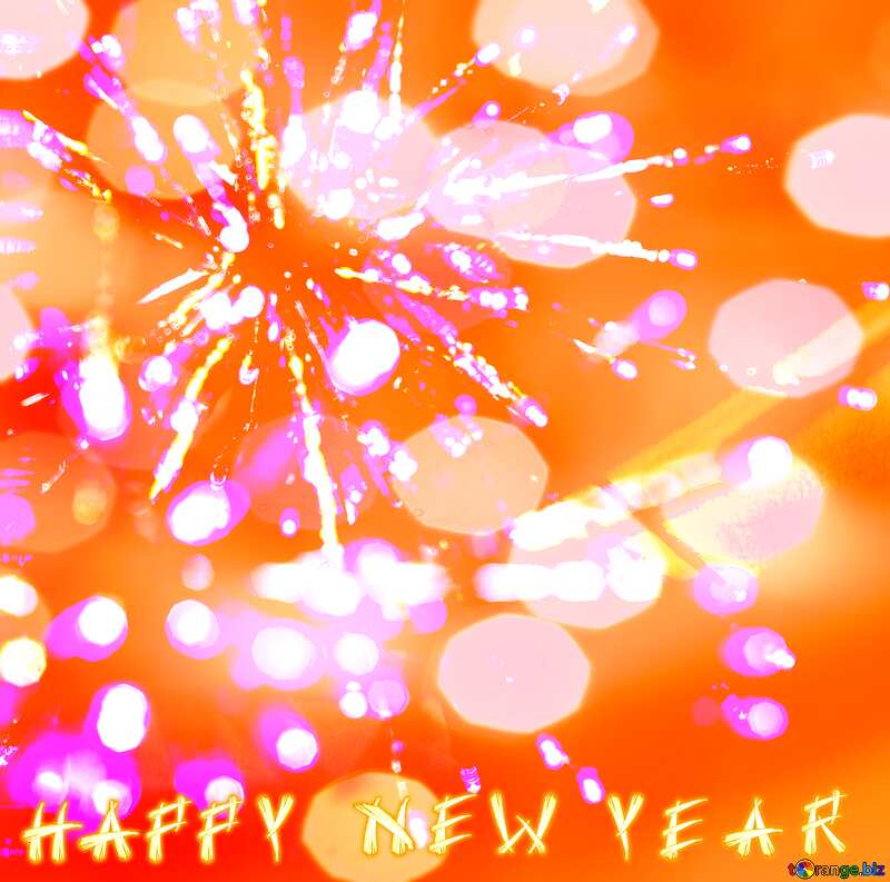 Beautiful background with lights novoogdnimi Happy Year №47874
