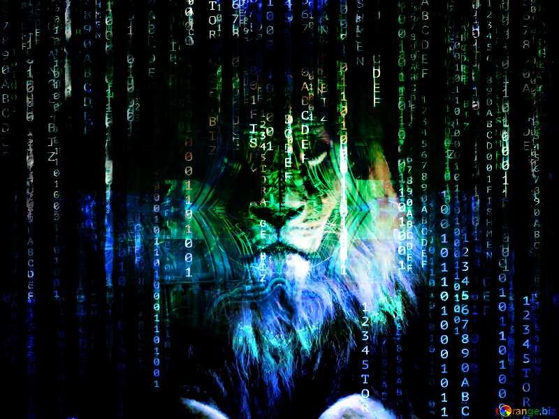 lion Digital enterprise matrix style background №44974