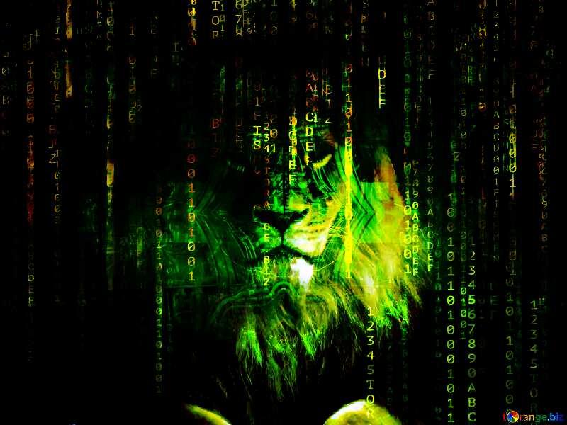 lion matrix style background №44974