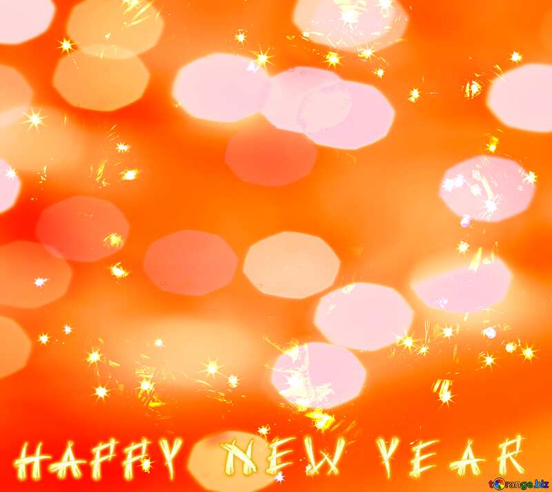Happy New Year Background bokeh №48031