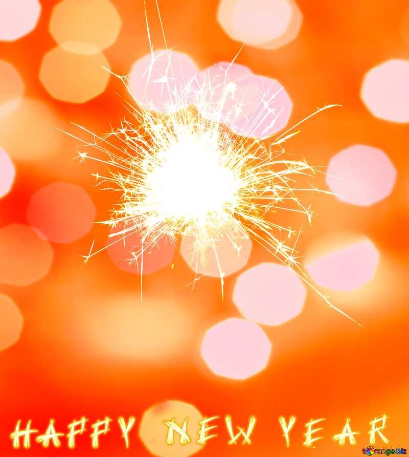 Happy New Year Sparkler background №25700