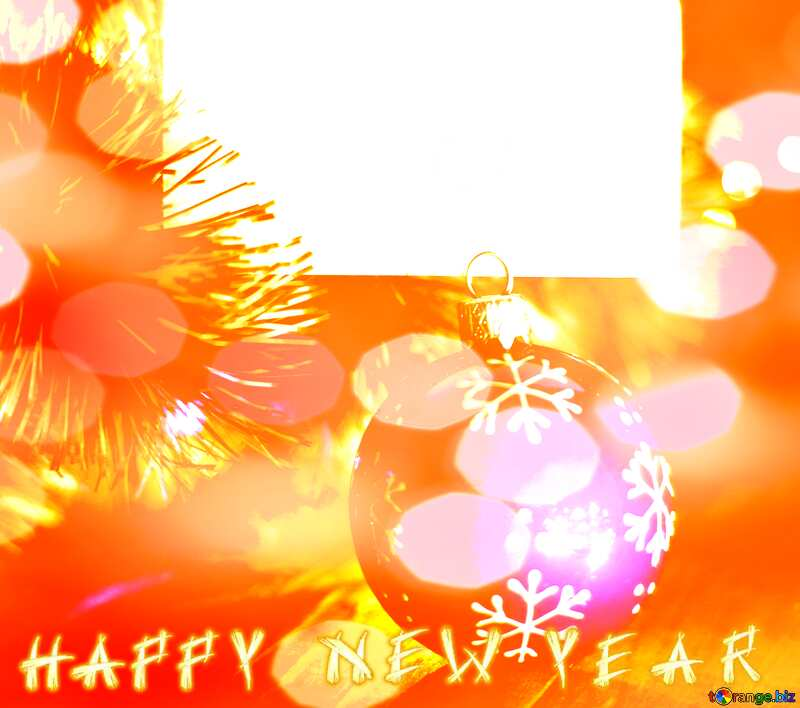 Happy New Year Winter Background №37840