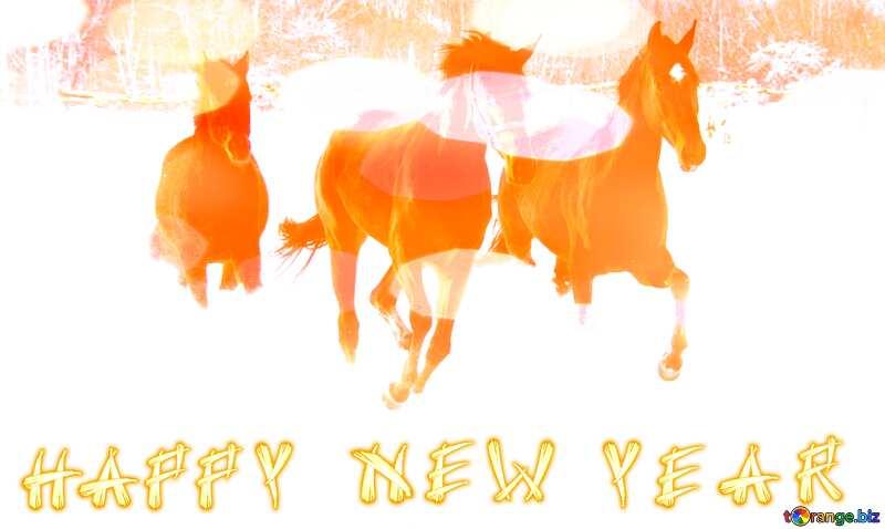 Horses Happy New Year. №3981