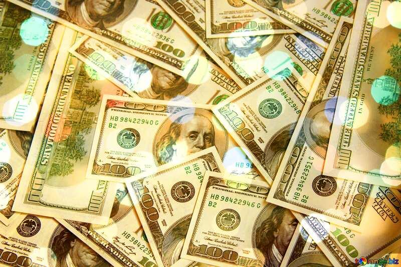 Dollars bokeh  background №1507